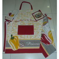 Kitchen Set - BELL PEPPER - Set Of - Apron, Glove, Pot Holder, Kitchen Towel