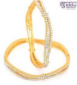 Sukkhi Gold Plated Ad Stone Bangles