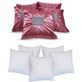 Bundle Cushion With Fillers Pink (10 Pcs Set)