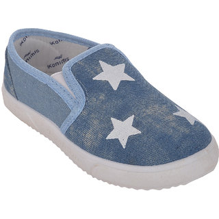 Small Toes Blue Casual Canvas Shoes for Infants