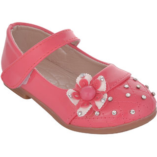 Small Toes Pink Casual Bellies for Girls
