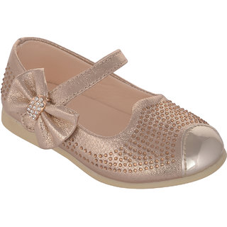 Small Toes Gold Casual Bellies for Girls