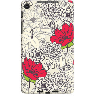 Oyehoye Floral Pattern Style Printed Designer Back Cover For Asus Google Nexus 7 Mobile Phone - Matte Finish Hard Plastic Slim Case