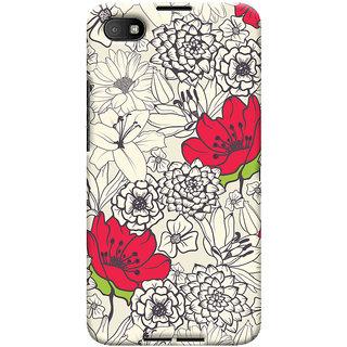 Oyehoye Floral Pattern Style Printed Designer Back Cover For Blackberry Z30 Mobile Phone - Matte Finish Hard Plastic Slim Case