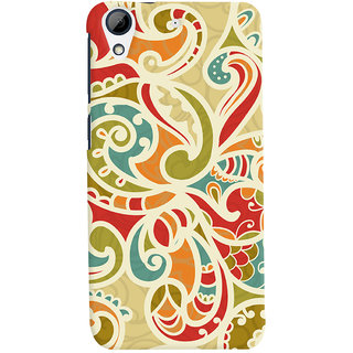 Oyehoye Floral Pattern Style Printed Designer Back Cover For HTC Desire 728 / 728G / Dual Sim Mobile Phone - Matte Finish Hard Plastic Slim Case