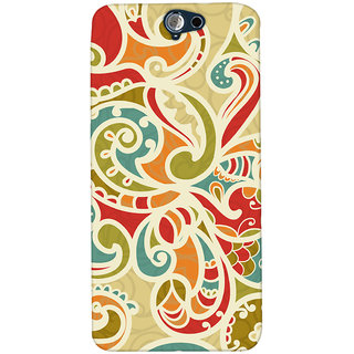 Oyehoye Floral Pattern Style Printed Designer Back Cover For HTC One A9 Mobile Phone - Matte Finish Hard Plastic Slim Case