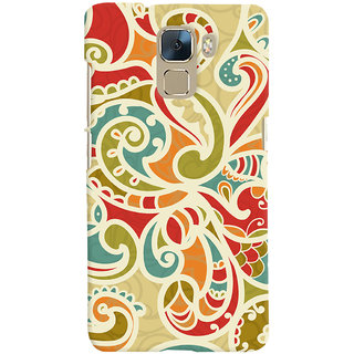 Oyehoye Floral Pattern Style Printed Designer Back Cover For Huawei Honor 7 / Dual Sim / Enhanced Edition Mobile Phone - Matte Finish Hard Plastic Slim Case