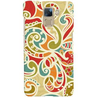 Oyehoye Floral Pattern Style Printed Designer Back Cover For Huawei Honor 7 / Dual Sim / Enhanced Edition Mobile Phone - Matte Finish Hard Plastic Slim Case