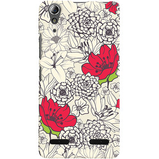 Oyehoye Floral Pattern Style Printed Designer Back Cover For Lenovo A6000 Mobile Phone - Matte Finish Hard Plastic Slim Case