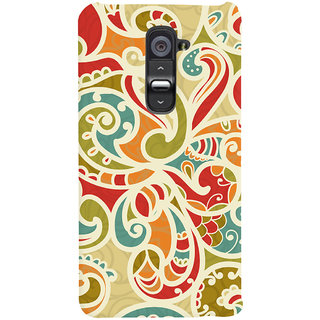 Oyehoye Floral Pattern Style Printed Designer Back Cover For LG G2 / Optimus G2 Mobile Phone - Matte Finish Hard Plastic Slim Case