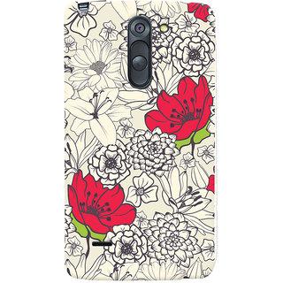 Oyehoye Floral Pattern Style Printed Designer Back Cover For LG G3 Stylus / Optimus G3 Stylus Mobile Phone - Matte Finish Hard Plastic Slim Case