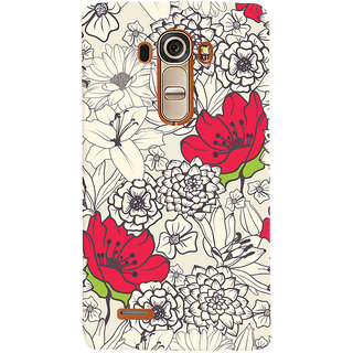 Oyehoye Floral Pattern Style Printed Designer Back Cover For LG G4 H818N Mobile Phone - Matte Finish Hard Plastic Slim Case