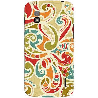 Oyehoye Floral Pattern Style Printed Designer Back Cover For LG Google Nexus 4 Mobile Phone - Matte Finish Hard Plastic Slim Case