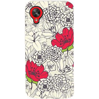 Oyehoye Floral Pattern Style Printed Designer Back Cover For LG Google Nexus 5 Mobile Phone - Matte Finish Hard Plastic Slim Case