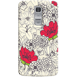 Oyehoye Floral Pattern Style Printed Designer Back Cover For LG Pro 2 / D838 Mobile Phone - Matte Finish Hard Plastic Slim Case