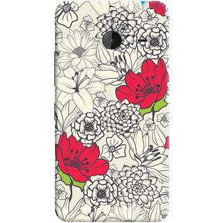 Oyehoye Floral Pattern Style Printed Designer Back Cover For Microsoft Lumia 640 XL Mobile Phone - Matte Finish Hard Plastic Slim Case