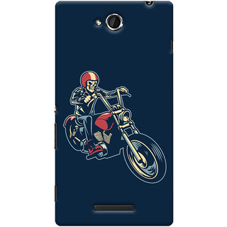 Oyehoye Bikers Or Riders Choice Printed Designer Back Cover For Sony Xperia C Mobile Phone - Matte Finish Hard Plastic Slim Case