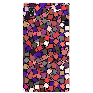 Oyehoye Pattern Style Printed Designer Back Cover For Sony Xperia M4 Aqua/Dual Sim Mobile Phone - Matte Finish Hard Plastic Slim Case