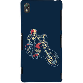 Oyehoye Bikers Or Riders Choice Printed Designer Back Cover For Sony Xperia Z3 Compact / Mini Mobile Phone - Matte Finish Hard Plastic Slim Case