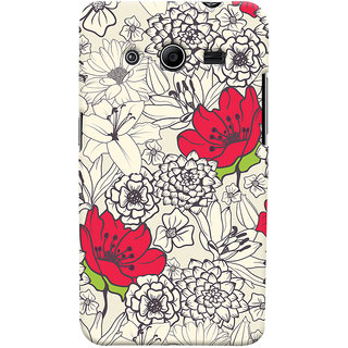 Oyehoye Floral Pattern Style Printed Designer Back Cover For Samsung Galaxy Core 2 Mobile Phone - Matte Finish Hard Plastic Slim Case