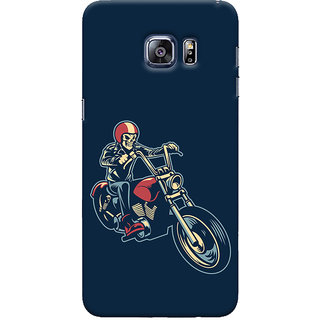 Oyehoye Bikers Or Riders Choice Printed Designer Back Cover For Samsung Galaxy S6 Edge Plus Mobile Phone - Matte Finish Hard Plastic Slim Case