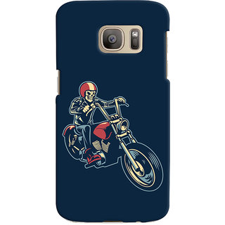 Oyehoye Bikers Or Riders Choice Printed Designer Back Cover For Samsung Galaxy S7 Edge Mobile Phone - Matte Finish Hard Plastic Slim Case