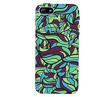Oyehoye Modern Art Pattern Style Printed Designer Back Cover For  5S Mobile Phone - Matte Finish Hard Plastic Slim Case