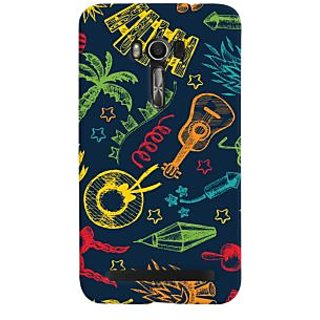 Oyehoye Holiday Pattern Style Printed Designer Back Cover For Asus Zenfone Go Mobile Phone - Matte Finish Hard Plastic Slim Case