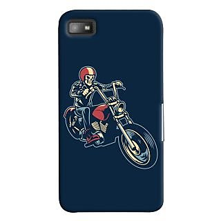 Oyehoye Bikers Or Riders Choice Printed Designer Back Cover For Blackberry Z1O Mobile Phone - Matte Finish Hard Plastic Slim Case