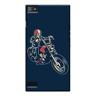 Oyehoye Bikers Or Riders Choice Printed Designer Back Cover For Blackberry Z3 Mobile Phone - Matte Finish Hard Plastic Slim Case