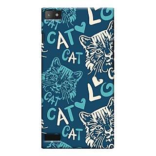 Oyehoye Cat Love Pattern Style Printed Designer Back Cover For Blackberry Z3 Mobile Phone - Matte Finish Hard Plastic Slim Case