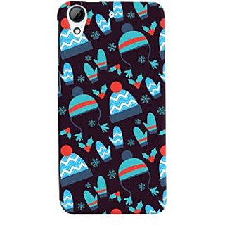 Oyehoye Winter Pattern Style Printed Designer Back Cover For HTC Desire 626 / 626 G Plus Mobile Phone - Matte Finish Hard Plastic Slim Case