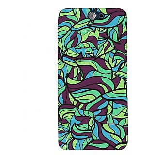 Oyehoye Modern Art Pattern Style Printed Designer Back Cover For HTC One A9 Mobile Phone - Matte Finish Hard Plastic Slim Case