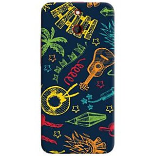 Oyehoye Holiday Pattern Style Printed Designer Back Cover For HTC One E8 Mobile Phone - Matte Finish Hard Plastic Slim Case