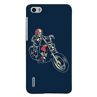 Oyehoye Bikers Or Riders Choice Printed Designer Back Cover For Huawei Honor 6 / Dual Sim Mobile Phone - Matte Finish Hard Plastic Slim Case