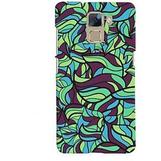 Oyehoye Modern Art Pattern Style Printed Designer Back Cover For Huawei Honor 7 / Dual Sim / Enhanced Edition Mobile Phone - Matte Finish Hard Plastic Slim Case