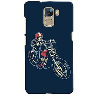 Oyehoye Bikers Or Riders Choice Printed Designer Back Cover For Huawei Honor 7 / Dual Sim / Enhanced Edition Mobile Phone - Matte Finish Hard Plastic Slim Case