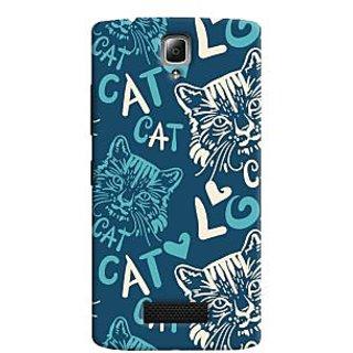 Oyehoye Cat Love Pattern Style Printed Designer Back Cover For Lenovo A2010 Mobile Phone - Matte Finish Hard Plastic Slim Case