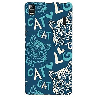 Oyehoye Cat Love Pattern Style Printed Designer Back Cover For Lenovo K3 Note / A7000 Turbo Mobile Phone - Matte Finish Hard Plastic Slim Case