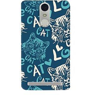 Oyehoye Cat Love Pattern Style Printed Designer Back Cover For Lenovo K5 Note Mobile Phone - Matte Finish Hard Plastic Slim Case