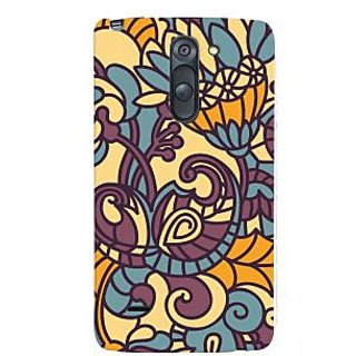 Oyehoye Floral Pattern Style Printed Designer Back Cover For LG G3 Stylus / Optimus G3 Stylus Mobile Phone - Matte Finish Hard Plastic Slim Case