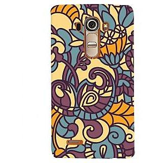 Oyehoye Floral Pattern Style Printed Designer Back Cover For LG G4 H818N Mobile Phone - Matte Finish Hard Plastic Slim Case