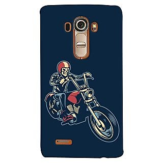 Oyehoye Bikers Or Riders Choice Printed Designer Back Cover For LG G4 H818N Mobile Phone - Matte Finish Hard Plastic Slim Case