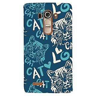 Oyehoye Cat Love Pattern Style Printed Designer Back Cover For LG G4 H818N Mobile Phone - Matte Finish Hard Plastic Slim Case