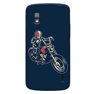 Oyehoye Bikers Or Riders Choice Printed Designer Back Cover For LG Google Nexus 4 Mobile Phone - Matte Finish Hard Plastic Slim Case