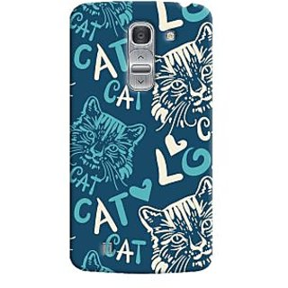 Oyehoye Cat Love Pattern Style Printed Designer Back Cover For LG Pro 2 / D838 Mobile Phone - Matte Finish Hard Plastic Slim Case