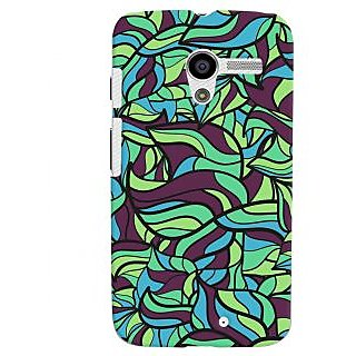 Oyehoye Modern Art Pattern Style Printed Designer Back Cover For Motorola Moto X Mobile Phone - Matte Finish Hard Plastic Slim Case