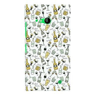 Oyehoye Patter Style Printed Designer Back Cover For Microsoft Lumia 730 / Dual Sim Mobile Phone - Matte Finish Hard Plastic Slim Case