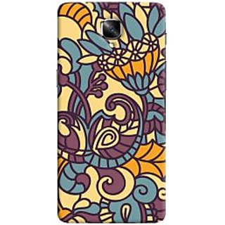 Oyehoye Floral Pattern Style Printed Designer Back Cover For OnePlus 3 Mobile Phone - Matte Finish Hard Plastic Slim Case