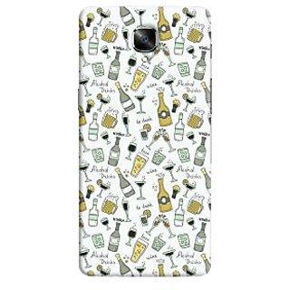 Oyehoye Patter Style Printed Designer Back Cover For OnePlus 3 Mobile Phone - Matte Finish Hard Plastic Slim Case